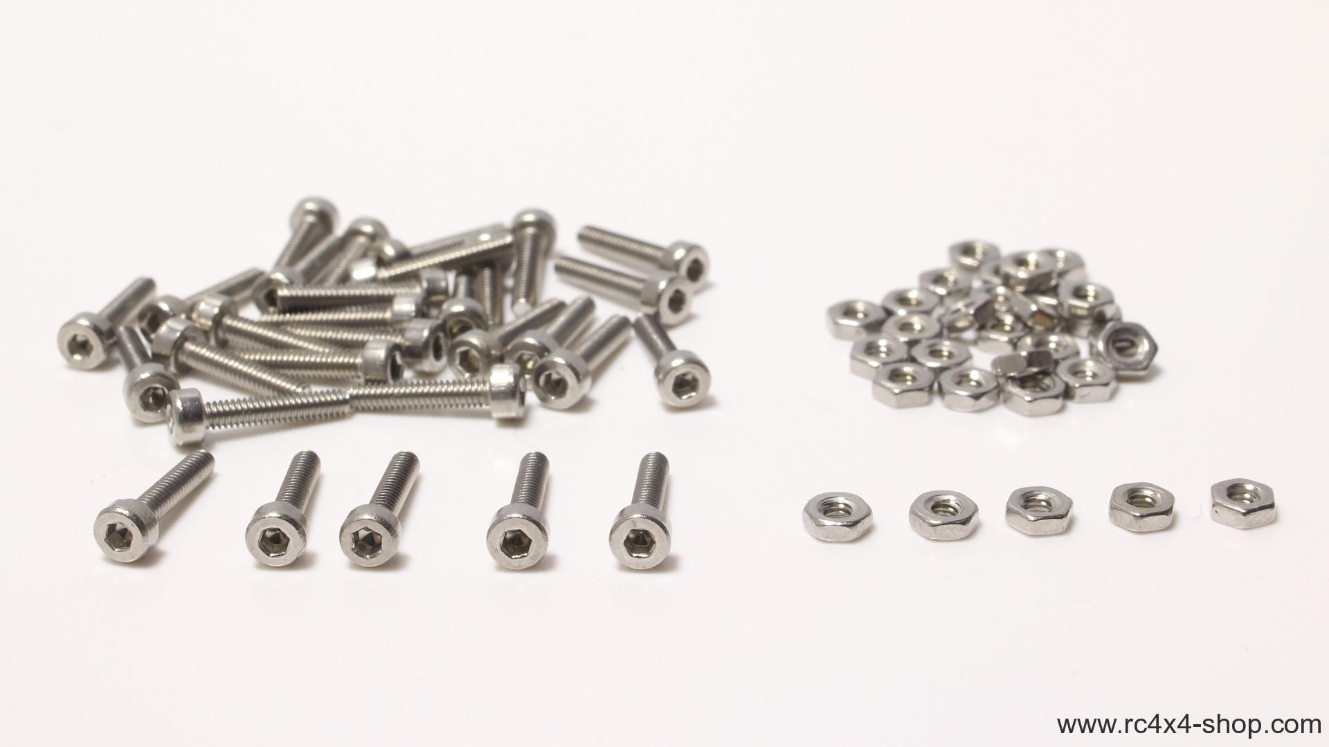 Set of Screws and Nuts for Beadlock Rims 10mm 30pcs