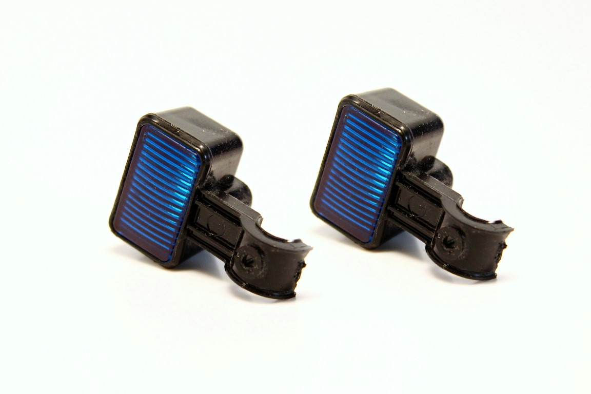 2x Rubber Light for Scale Crawlers Blue