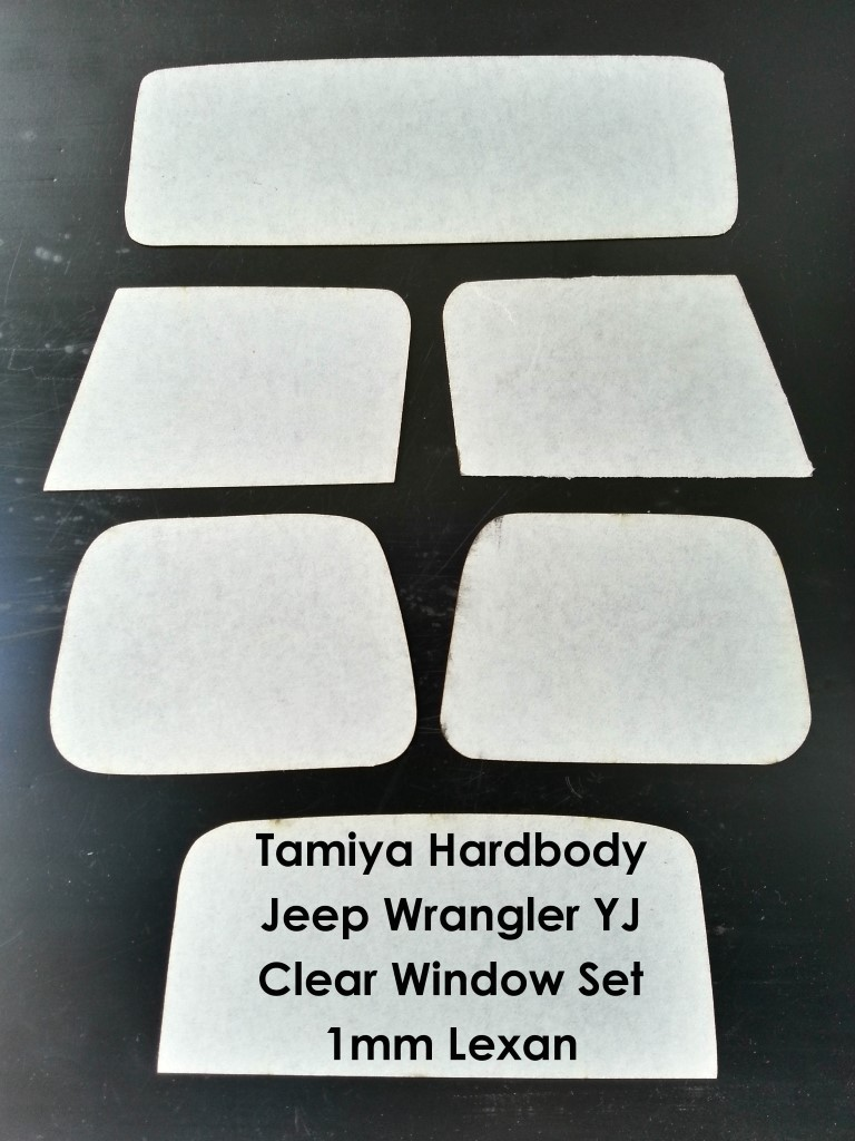 Jeep Wrangler Clear Window Set