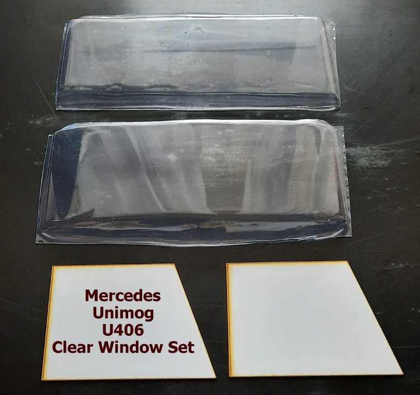 Mercedes Unimog U406 Clear Window Set