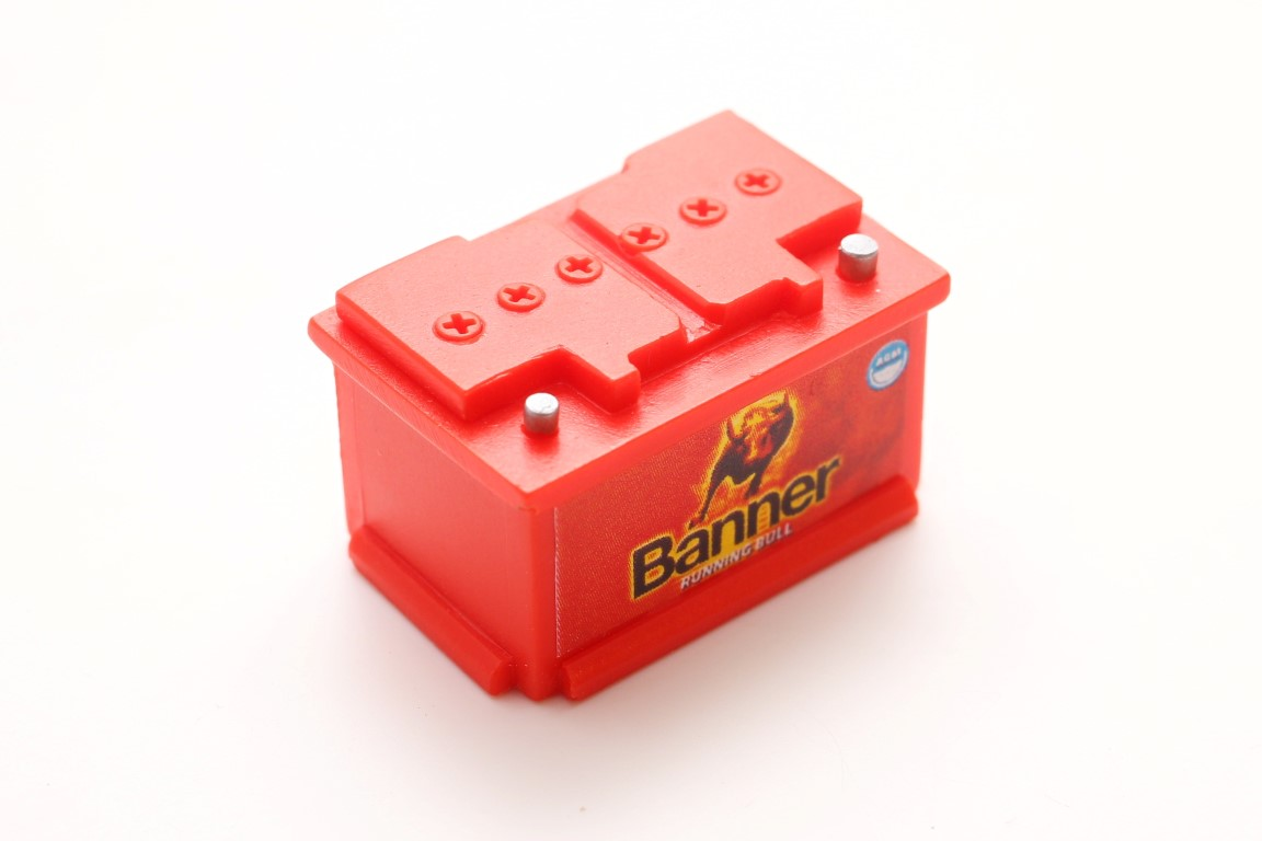 Car Battery 1/10 RED
